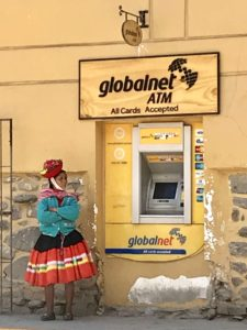 Woman and ATM