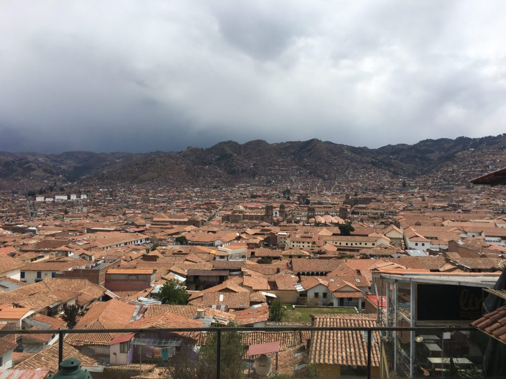 View from top of San Blas