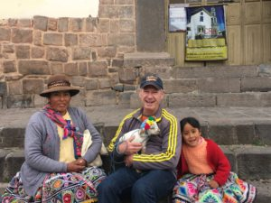 Joel, Cusco Residents and Baby Alpaca
